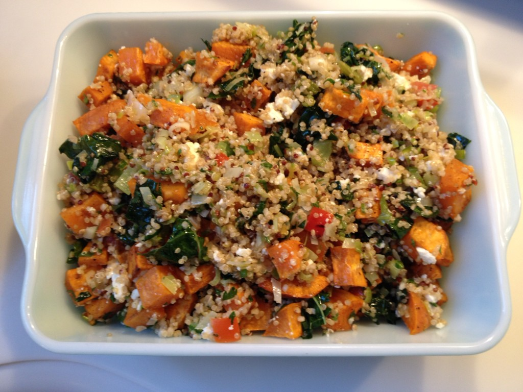 Quinoa with kale & sweet potato